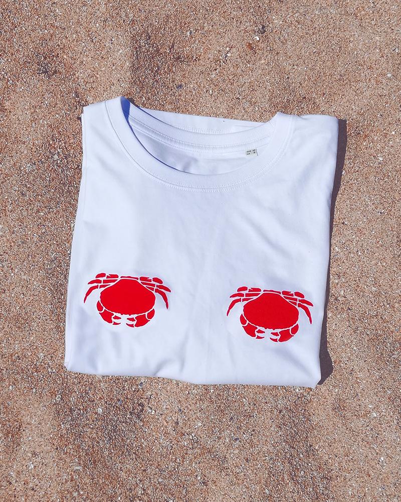 teeshirt 17 degrés blanc sur du sable