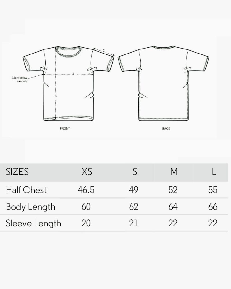 grille de taille des tshirts femme 17 degrés