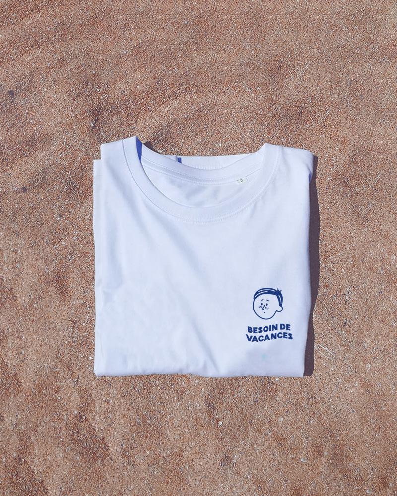 tshirt blanc besoin de vacances homme