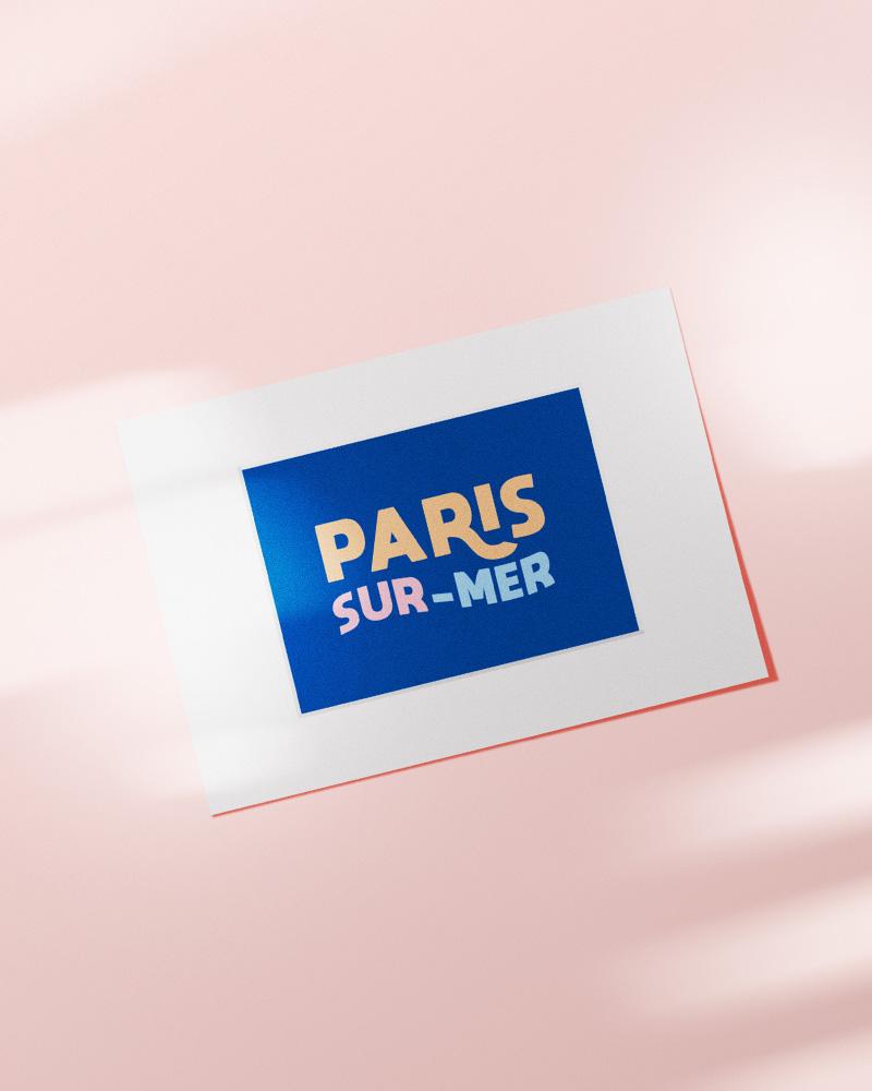 affiche Paris sur mer