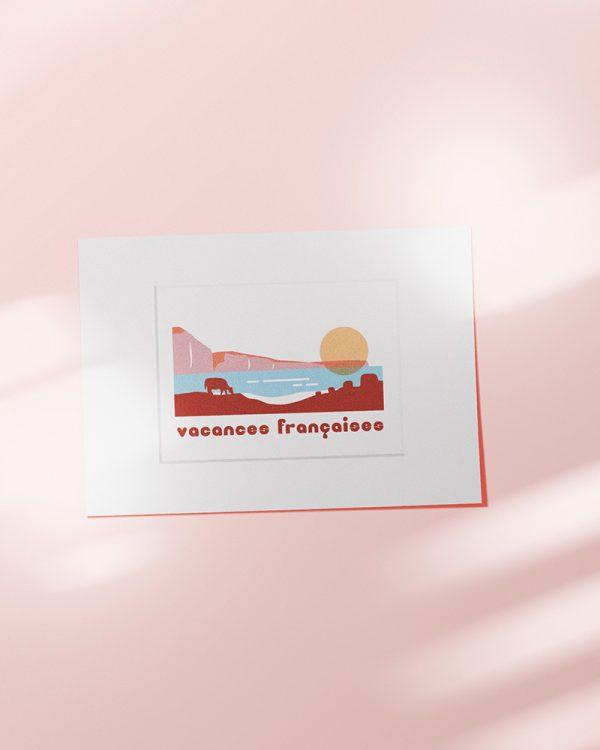 affiche vacances francaises