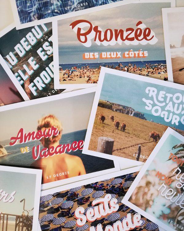 cartes postales 17 degres