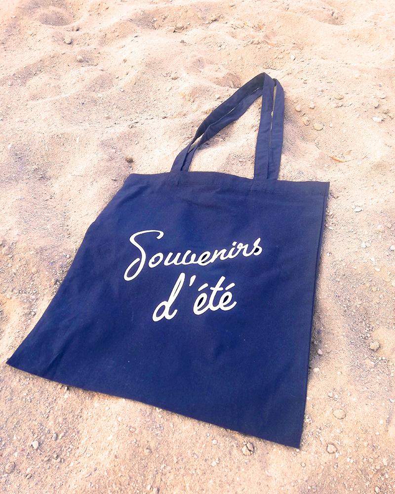 totebag bleu marine souvenirs d'été