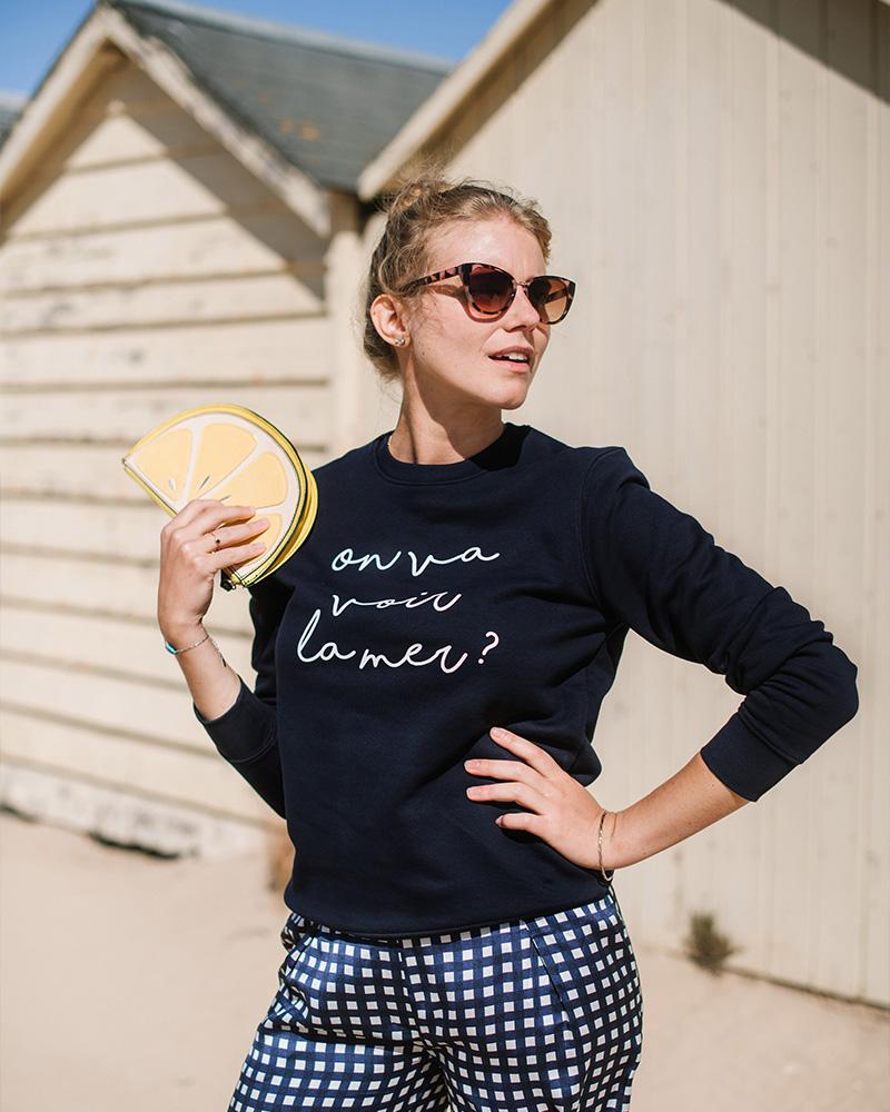 sweatshirt en coton bio imprime en france