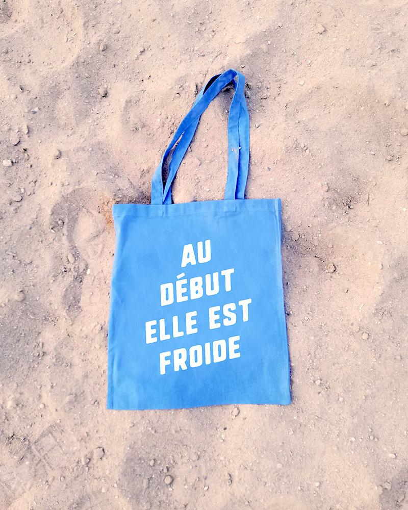 sac bleu ciel a message