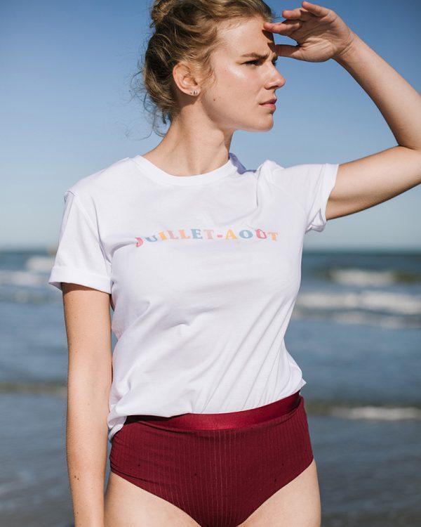 t-shirt blanc juillet aout