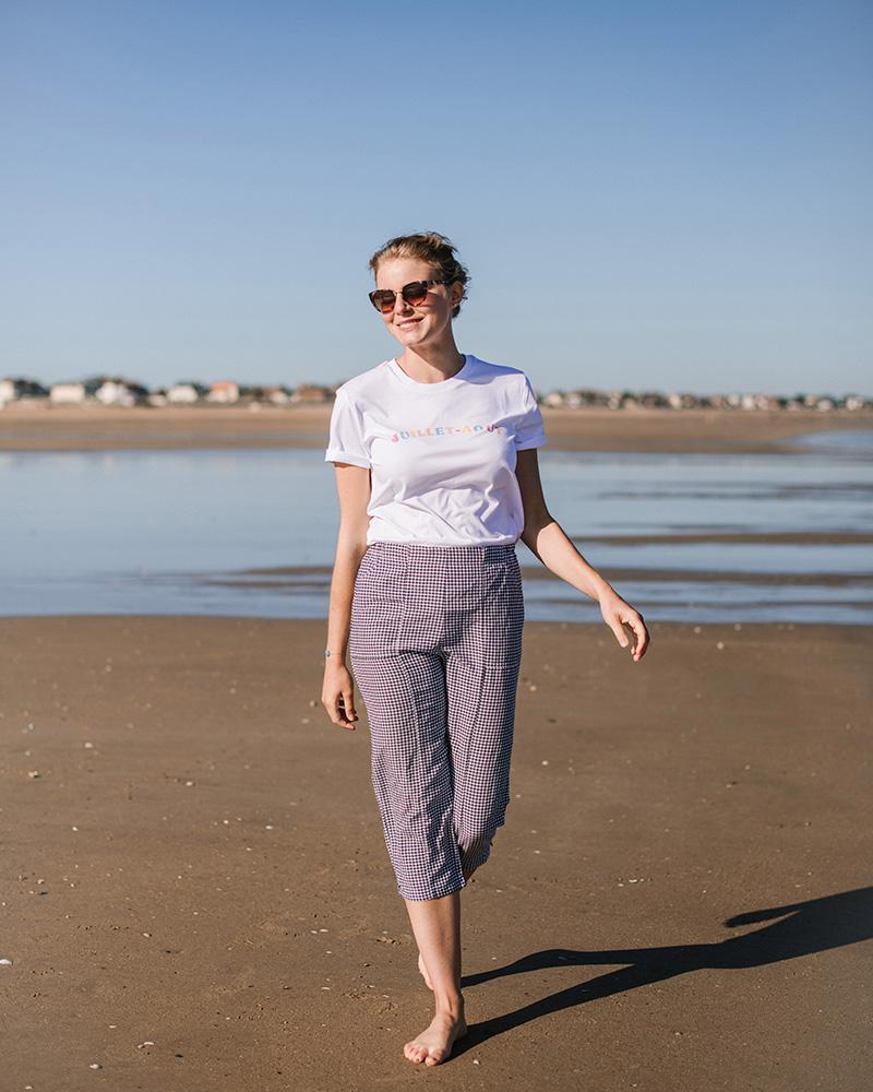 femme sur la plage avec tshirt 17 degres